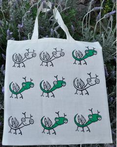 Mahcabra-bolsa tela-bichitos-verde