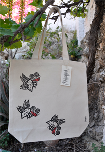 Mahcabra-bolsa lona-moscas