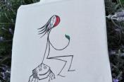 Mahcabra-bolsa tela-niña-garrapata