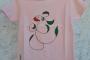 Mahcabra-camiseta rosa-niño-hoja-voladora